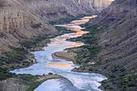 The Colorado River at Nankoweep near sunset, Grand Canyon National Park, Arizona, USA.