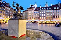 Stariego Miasta square or Rynek of Warsaw, Poland.
