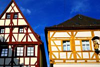 Hauptstrasse, facades of historic townhouses, old town of Forchheim, Forchheim, Franconian Switzerland, Upper Franconia, Franconia, Bavaria, Germany, ...