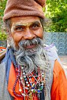 older yogi at Rishikesh, India.