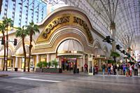 The Golden Nugget Hotel and Casino on E Freemont Street in Old downtown Las Vegas, Nevada.