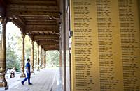 This is Part of Crying Mother monument. Galleries with Memory Books containing names of Uzbekistani people killed in WWII in Alley of Glory and Memory...