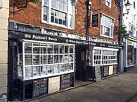 The Oldest Chemist Shop in England and Lavender Tea Rooms Market Place Knaresborough North Yorkshire England.