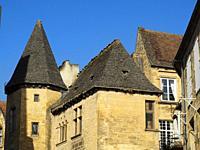 medieval architecture, Sarlat-la-Caneda, Dordogne Department, Nouvelle-Aquitaine, France.