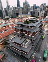 Singapore, Singapore - October 18, 2018: Buddha Tooth Relic Temple in China Town.