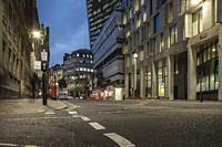 UK,City of London,EC3- Building works undertaken on Great Tower Street in the financial district.