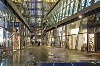 UK,London,EC4 M-high-end retail stores and restaurants at One New Change shopping Complex.