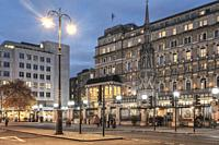 London Charing Cross . Charing Cross Station is located at the western end of The Strand in the City of Westminster, east of Trafalgar Square and nort...