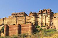 Mehrangarh Fort, Jodhpur, Rajastan, India.