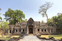 Prasat Preah Khan temple ruins, Angkor, Siem Reap, Cambodia.