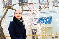 Shibuya, Tokyo / Japan - April 4 2012 : French writer AmŽlie Nothomb poses for pictures in Tokyo, Japan. She visited Tokyo to film her documentary sho...