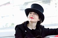 Shibuya, Tokyo / Japan - April 5 2012 : French writer AmŽlie Nothomb poses for pictures in Tokyo, Japan. She visited Tokyo to film her documentary sho...