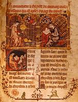 ASTRONOME ET SCRIBE, 1315. France-Ocitanie-Lot- Musée de l´Ecriture at Figeac.