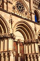 Facade of the Cathedral of Cuenca. Spain.