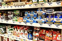 Florida, Miami, The Home Depot, inside, hardware big box store, do it yourself, shopping, display sale shelves, roach bait control fogger, Hot Shot Ra...
