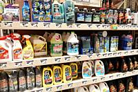 Florida, Miami, The Home Depot, inside, hardware big box store, do it yourself, shopping, display sale shelves, plumbing drain cleaners, Drano Liquid ...