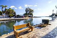 River view, the only river on the island. Santa Eularia des Riu, Ibiza, Spain.