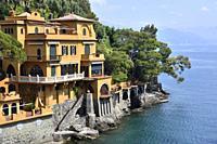 Italy, Liguria, Portofino surroundings, Luxurious villa overlooking the gulf of Genoa.