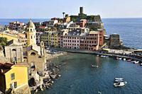 Italy, Liguria, Cinque Terre National Park, World Heritage Site, Vernazza.