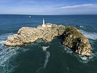 Mouro island, Santander, Cantabria, Spain.