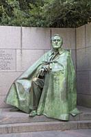 Statue of Roosevelt Sitting, Franklin Delano Roosevelt Memorial, Washington D.C., USA