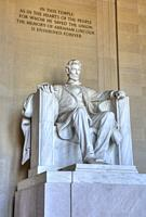 Statue of Abraham Lincoln, Lincoln Memorial, Washington D.C., USA