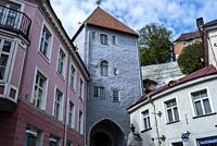 Long Leg (Boot) Gate Tower (Pikk Jalg), Old Town, Tallinn, Estonia, Baltic States.