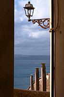 view of Lago di Bracciano from a road of Anguillara Sabazia, Lazio, Italy.