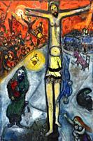 Resurrection,a painting by Marc Chagall in the Chagall Museum in Nice,South France.
