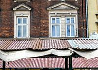 Rusted Awning, Jewish Quarter, Krakow, Poland.