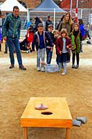 children´s game, DAU 18 festival, Barcelona, Catalonia, Spain