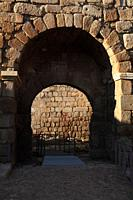 Alcazaba walls, Merida, Badajoz province, Region of Extremadura, Spain,
