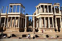 The Roman Theatre of Mérida is a construction promoted by the consul Vipsanius Agrippa in the Roman city of Emerita Augusta. Mérida. Badajoz Province....