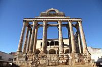 Temple of Diana in Merida, Badajoz Province, Extremadura, Spain