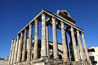 Temple of Diana in Merida, Badajoz Province, Extremadura, Spain