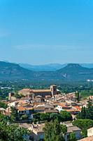 Cityscape with the church Saint-Pierre-Saint-Paul, Roquebrune-sur-Argens, Var, Provence-Alpes-Cote d`Azur, France, Europe.