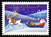 Finnish postage stamp.