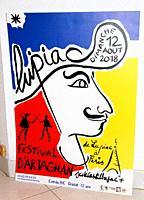 affiche festival d'artagnan, lupiac, gers, occitanie.