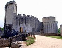 pont d'entree, rempart, france, lot-et-garonne, chateau de bonaguil médiéval.
