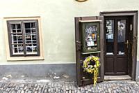 Golden Lane, Prague Castle, Czech Republic.