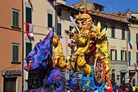 Foiano della chiana carnival parade, arezzo, tuscany, italy.