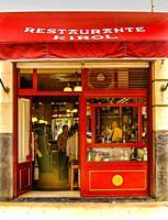 Facade of bar-restaurante Kirol. Bilbao, Biscay, Basque Country, Spain.