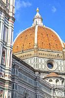 Duomo Santa Maria del Fiore and Brunelleschi's dome, Florence, Tuscany, Italy, Europe.
