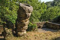 Herguijuela de la Sierra antique stone mill, Sierra de Francia, Salamanca, Castilla y Leon. Spain.