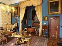 Poland. Kozlowka Palace of the Zamojski noble family. Sleeping room of a lady
