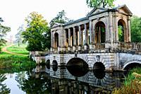 England, Buckinghamshire, Stowe, Stowe Landscape Gardens, The Palladian Bridge