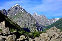 Karakol valley landscape, near Karakol, Kyrgyzstan.