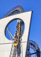 Japan, Tokyo City, Bunkyo Ward, Korakuen entertainment area.