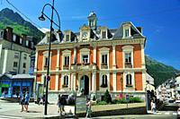 Hôtel de Ville (Town Hall). Cauterets town, Hautes-Pyrénées department, Occitanie region, France.