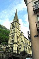 The Church of Our Lady, 19th century. Cauterets town, Hautes-Pyrénées department , Occitanie region, France.